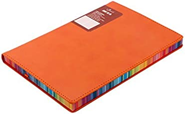 Viva Hexa - A5 Journal Diary Notebook 264 Pages 70 GSM Soft Flexible Cover Orange