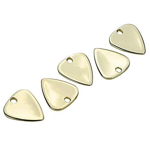 Vbest life 5 Stück Metall Premium Plektrum für Ihre Elektrische Akustik oder Bassgitarre Musikinstrumente Zubehör(Gold)