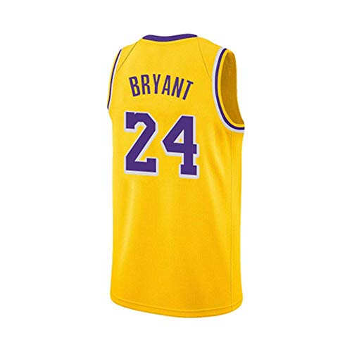 TL LT NBA Baloncesto Uniformes Lakers Nueva Temporada Retro púrpura, Equipo de James \ Kobe \ Bauer \ Kuzma \ Jersey Personalizado Sudadera Transpirable Camiseta Deportiva de Verano Yellow 24-L