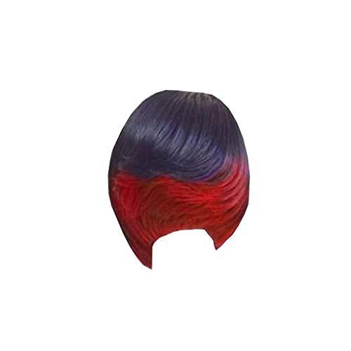 Zolimx Kurze Perücken Mikro-lockiges, Kurzes Glattes Haar, Damen Sexy Volle Perücke Kurze Perücke Volle Abdeckung Bang Perücke Styling Cool Wig