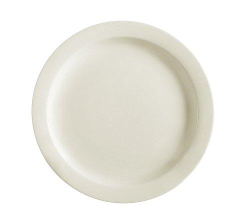 CAC China NRC-5 Narrow Rim 5-1/2-Inch American White Stoneware Plate, Box of 36 by CAC China American White Plate