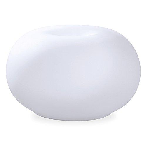 Arya HD Diffusore in Vetro Satinato Earth, Bianco, 13x22.2x13 cm