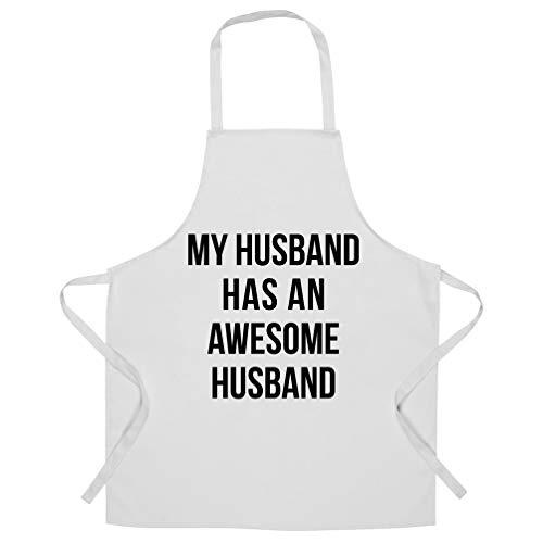 Joke Paare Schürze des Chefs Mein Ehemann hat einen ehrfürchtigen Ehemann White One Size