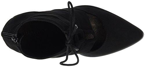 BIANCO - Laced Up Boot Son16, Scarpe col tacco Donna Nero (Schwarz (Black/10))