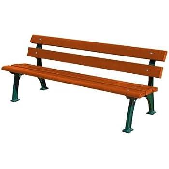 Parkbank mit Gussgestell - Sitz- und Rückenfläche Fichtenholz ...