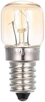 AC220-240V 15W Tungsten Light Bulb Incandescent Lamp E14 Base Socket Holder for Oven Bread Maker Refrigerator