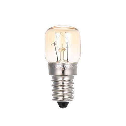 Festnight AC110-120V 15 Watt Wolfram Glühbirne Glühlampe E14 Sockel Halter für Ofen Brotbackautomat Kühlschrank Kühler Tragbare Mini Größe -