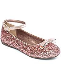 147254fbb Girls Ballet Flats Glitter Ballerina Shoes Size 10 11 12 13 1 2 Infant -  Junior