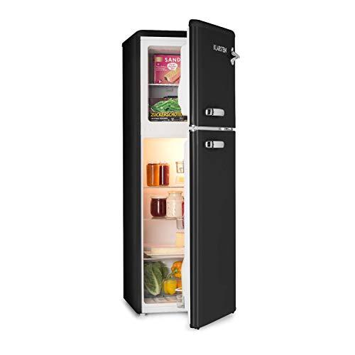 Klarstein Audrey • Combiné réfrigérateur 97L congélateur 39L • A+ • Look rétro • noir