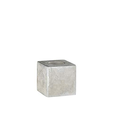 WOFI Tischleuchte, Metall, E27, 10 W, Grau, 9.8 x 9.8 x 9.8 cm