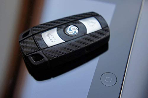 4D Carbon Schwarz Folie für Ihren 3 Tastenschlüssel von Wizuals©