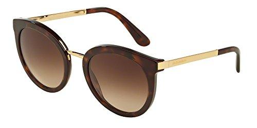 Dolce & gabbana 0dg4268 502/13 52, occhiali da sole donna, marrone (havana/browngradient)