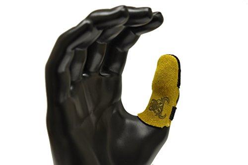 er Leder Daumen Guard, Finger Guard separat erhältlich, klein, gelb (Gelbe Finger)