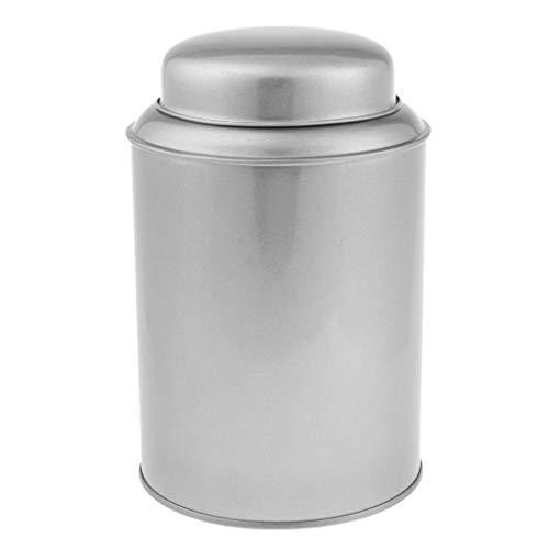 B Baosity Edelstahl Teedose/Gewürzdose Rund Vorratsdosen klein Aufbewahrungsdose - Silber S