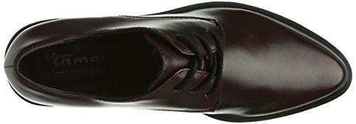 Tamaris - 23309, Scarpe stringate basse derby Donna Rosso (Rot (Bordeaux 549))