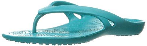 Crocs Kadee II Flip Women, Damen Zehentrenner, Blau (Turquoise), 33/34 EU
