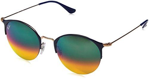 RAYBAN JUNIOR Unisex-Erwachsene Sonnenbrille RB3578, Copper Top Blue/Lightbrownmirrorredgrad, 50