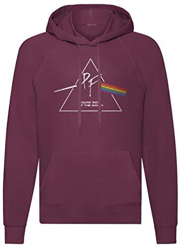 LaMAGLIERIA Sudadera Unisex Pink Floyd PF0003 - Sudadera con Capucha Rock Band, L, Burgundy
