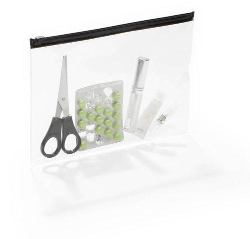 Durable 248001 Reißverschlusstasche A5, 5 Stück, transparent