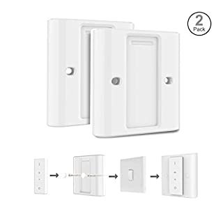 Rhodesy 2 Light Switch Covers for Philips Hue Smart Wireless Dimmer Switch, Highly Compatible White Adapter Converter Shell, Suitable for EU/UK Standard Switch, Pack of 2