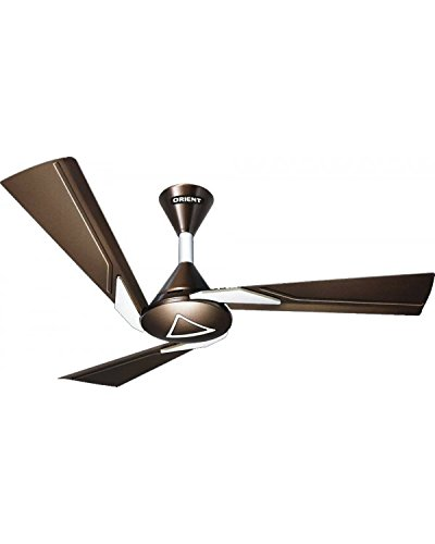 """Orient Electric Orina 48"""" Ceiling Fan Chocolate Brown Ivory 48"""" 1200Mm"""