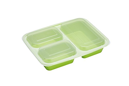 Kitchen Craft Healthy EatingBPA-freieLunch-Boxen zur Portionskontrolle/Container zur Lebensmittelvorbereitung, Plastik, Mehrfarbig, 18.9 x 24.5 x 4.1 cm