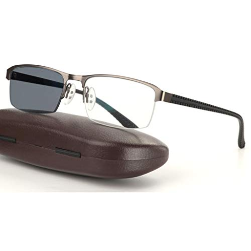 ZY Reading Glasses Lesebrille, Intelligent Transition Photochromic Progressive Sonnenbrille, Federgelenke aus rostfreiem Edelstahl, Sun Reader, für Herren/Damen
