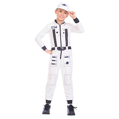 Amscan International- Astronaut 8-10 Years Disfraz, Color (9904453)