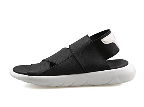 Herren Atmungsaktive Sandalen Sommer Neue Modelle Strand Schuhe Sport Freizeitschuhe Jugend Mode Slingback Hausschuhe black and white