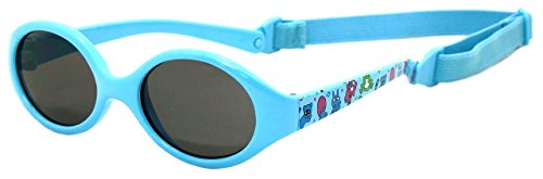 Sunglasses baby BOY | age 6 months to 2 years | TOTAL FLEXIBLE MODEL FOR EXTRA COMFORT | with BAND and very resistent | 100% UV protection | ideal gift for newborn | Kiddus babies light blue