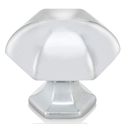 Chr Hardware (Southern Hills poliertes Chrom, runde Möbelknopf, 5Stück, Schrank, Küche Schubladenknäufe, poliert chrom Hardware-Kabinett zieht, shkm023-chr-5)