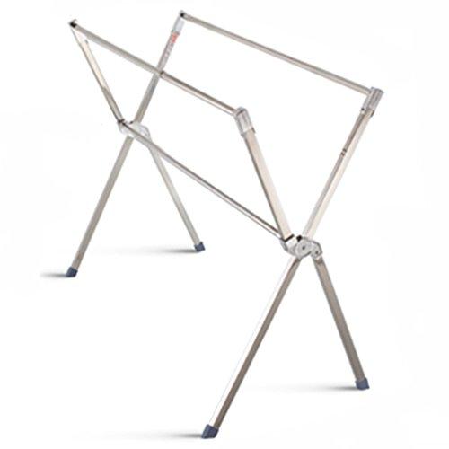 HWF Wäscheständer Trockengestelle Edelstahl Bodenständer Doppelstab Typ Falten Teleskop Indoor X Typ Balkon Trocknen Quilts Kleiderstange ( Farbe : Can not Telescopic )