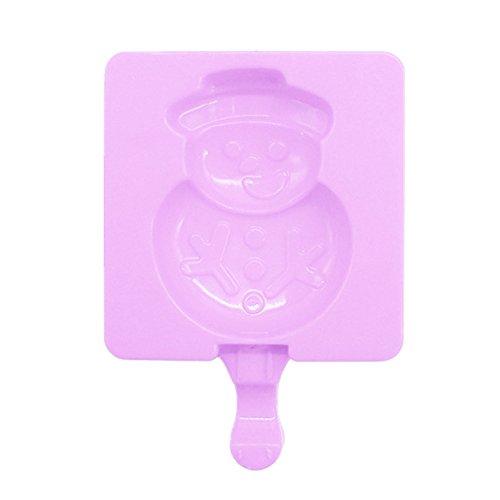 Clara Silikon EIS Form EIS Lolly Formen Eiswürfel mit Stöcken Tablett EIS frieren