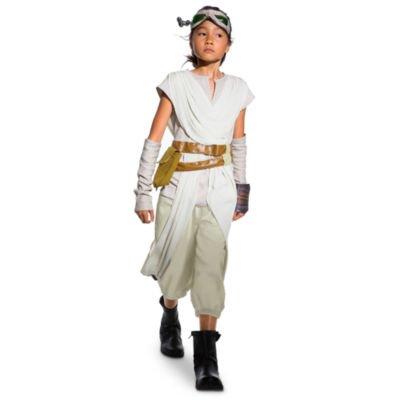 Rey Costume For Kids, Star Wars: La Force éveille, taille 4 ans, comprend tunique, pantalon, lunettes, ceintures attachées et pochette, manches détachées et protège-chaussures
