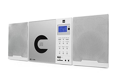 Dual Vertical DAB 102 Weiß Stereo Kompaktanlage mit Digitalradio (DAB+/UKW-Tuner, CD-Player MP3 Weckfunktion, Kopfhöreranschluss (3,5mm Klinke) SD-Kartenslot, USB) weiß