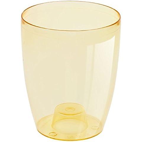 Portavaso Coubi in plastica Orchidea,colore: arancione trasparente, h 160