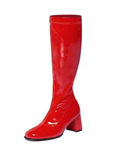 Ktc ,  Damen Kniehoch, rot - rot - Größe: - Twiggy Kostüm