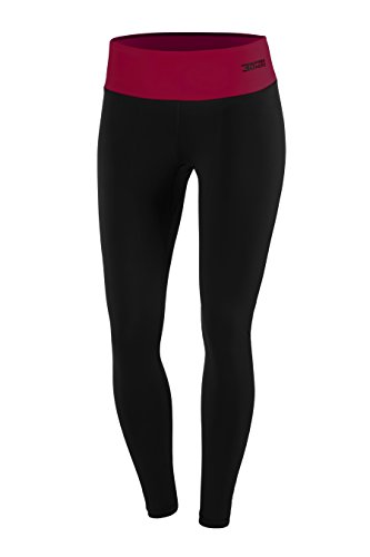 FITTECH PERFORMANCE Damen Thermoaktiv Legging Leggins Strumpfhose Tights Laufhose Sporthose Lang Fitness Pilates Outdoor Radsport Running - 3