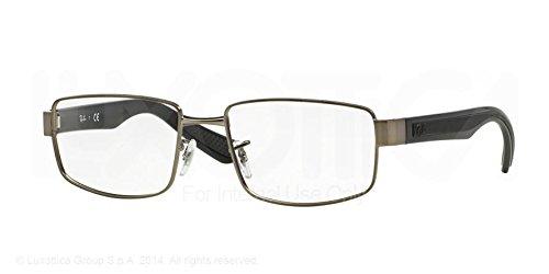 Ray Ban Optical Montures de lunettes RX6319 Pour Homme Matte Black, 53mm 2620: Matte Gunmetal