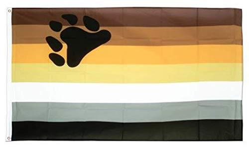 Jasper Merchandise Bear Pride Flagge 3x 5Fuß (91,4x 152,4cm) Pride LGBT Polyester Zwei Metallösen Fahnenstange -