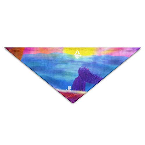 Gxdchfj Alone Waiting Sun Triangle Pet Scarf Dog Bandana Pet Collars Dog Cat - Birthday