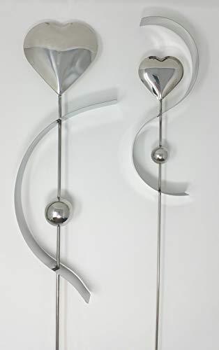 Chrischle 2 dekorative Gartenstecker ~ Herz ~ Blumenstecker Dekoration Haus + Garten