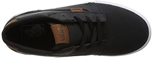 Vans Chapman Mid, Chaussures de Running Mixte Enfant Noir (Leather)
