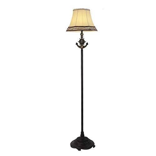 CHOME Retro Schmiedeeisen Stehlampe, Kreative Staub Stoff Trommel Schatten Stehlampe, für Wohnzimmer Und Schlafzimmer Etc,B -