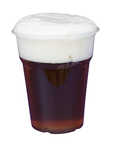 Gastro-Bedarf-Gutheil 1.000 Trinkbecher, Plastikbecher 0,3 l transparent mit Füllstrich Feste Qualität Bierbecher Einwegbecher PP (Bier Becher)