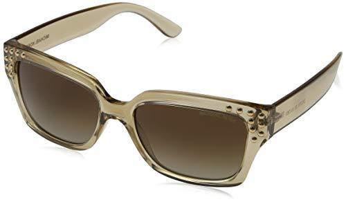 Michael Kors Damen BANFF 334313 55 Sonnenbrille, Light Brown Crystal/Smokegradient,
