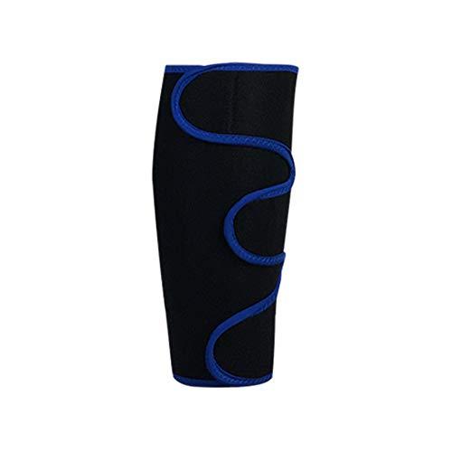 WXQQ SportKompression Knie Sleeve für Damen & Herren - Elastische Kniebandage - Atmungsaktive Kniestütze bei Meniskus-Beschwerden, Knie Arthrose, Sehnenentzündung & BänderrissBlack Blue