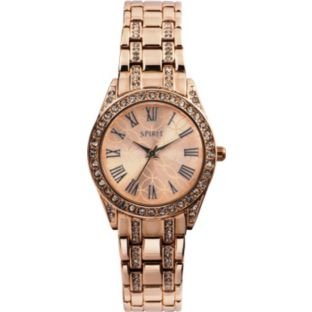Spirit Rose Gold Dial Stone Set Bracelet Ladies Watch ASPL80X Best Price and Cheapest
