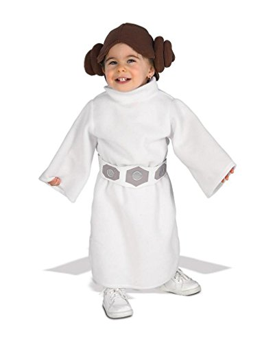 Horror-Shop Prinzessin Leia Baby Verkleidung 12-24 Monate (Star Wars Prinzessin Leia Kostüm Baby)