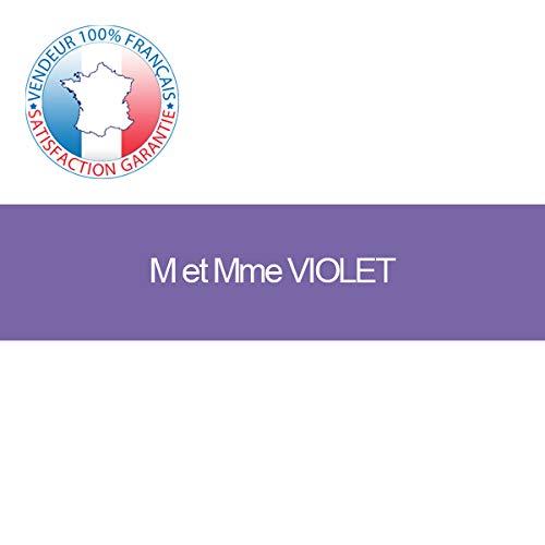 Plaque boite aux lettres adhésive | Plaque gravée à personnaliser 10 x 2,5 cm | 19 couleurs disponibles (Violet)